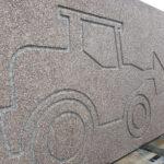 Silex prefab beton wand met motief