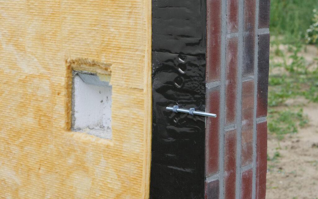 Wand met isolatie materiaal